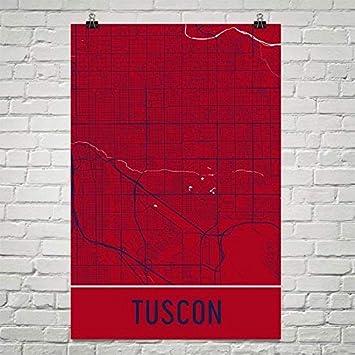 Tucson Arizona Karte.Moderne Karte Kunst Tuscon Poster Tucson Kunstdruck Tuscon
