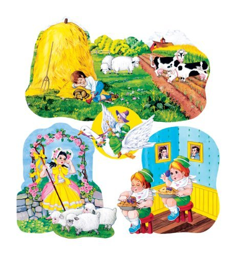 Nursery Rhymes set 3- Felt Figures for Flannel Board 4 stories-Little Boy Blue, Jack Horner, Bo Peep & Mother Goose for $<!--$10.68-->