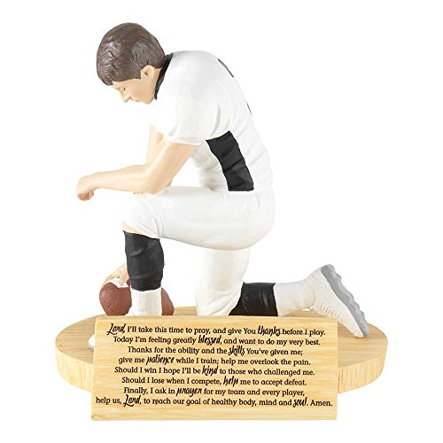 Hear Our Prayer Kneeling Football Player 5 x 5.5 Resin Stone Tabletop Figurine]()