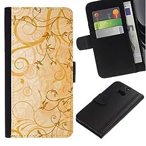 iBinBang / Flip Funda de Cuero Case Cover - cvety vetochki uzory ornamenty - HTC One M8
