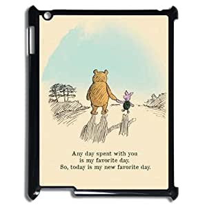 T-TGL(RQ) Ipad 2,3,4 Personalized Phone Case Winnie the Pooh quote with Hard Shell Protection