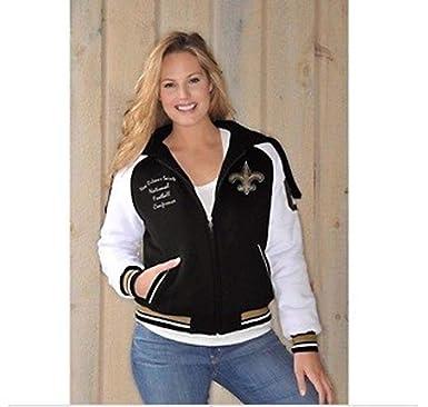 78119bd0 Amazon.com: New Orleans Saints Ladies Womens Jacket with Hood NFL ...