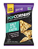 POPCORNERS Salt of The Earth, Popped Corn Snacks, 3oz (Pack of 16)
