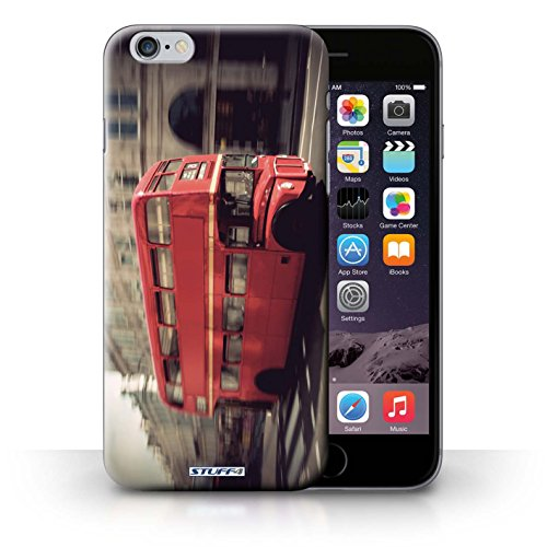 Hülle Case für iPhone 6+/Plus 5.5 / Rot Bus Entwurf / London England Collection