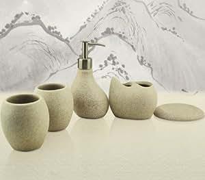 suit, elegant dinas five suite bathroom sanitary ware: Home & Kitchen