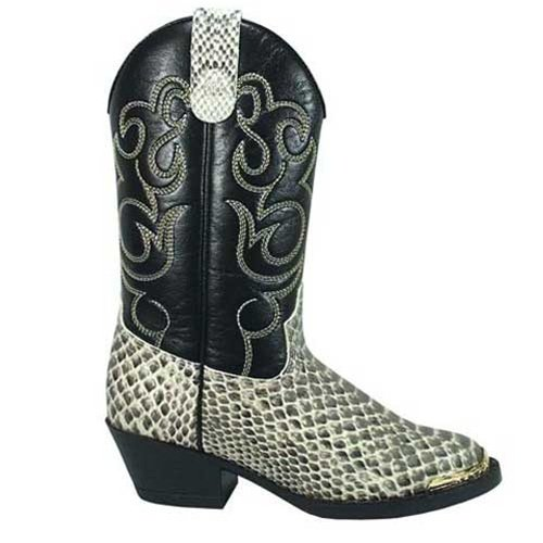 Smoky Mountain Boys' Snake Print Cowboy Boot Round Toe ()