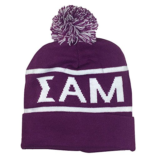 Sigma Alpha Mu Fraternity Letter Winter Beanie Hat Greek Cold Weather Winter - Falls Stores The Miami
