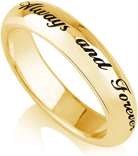 Amazon Com Personalized Purity Ring Engraved Promise Ring