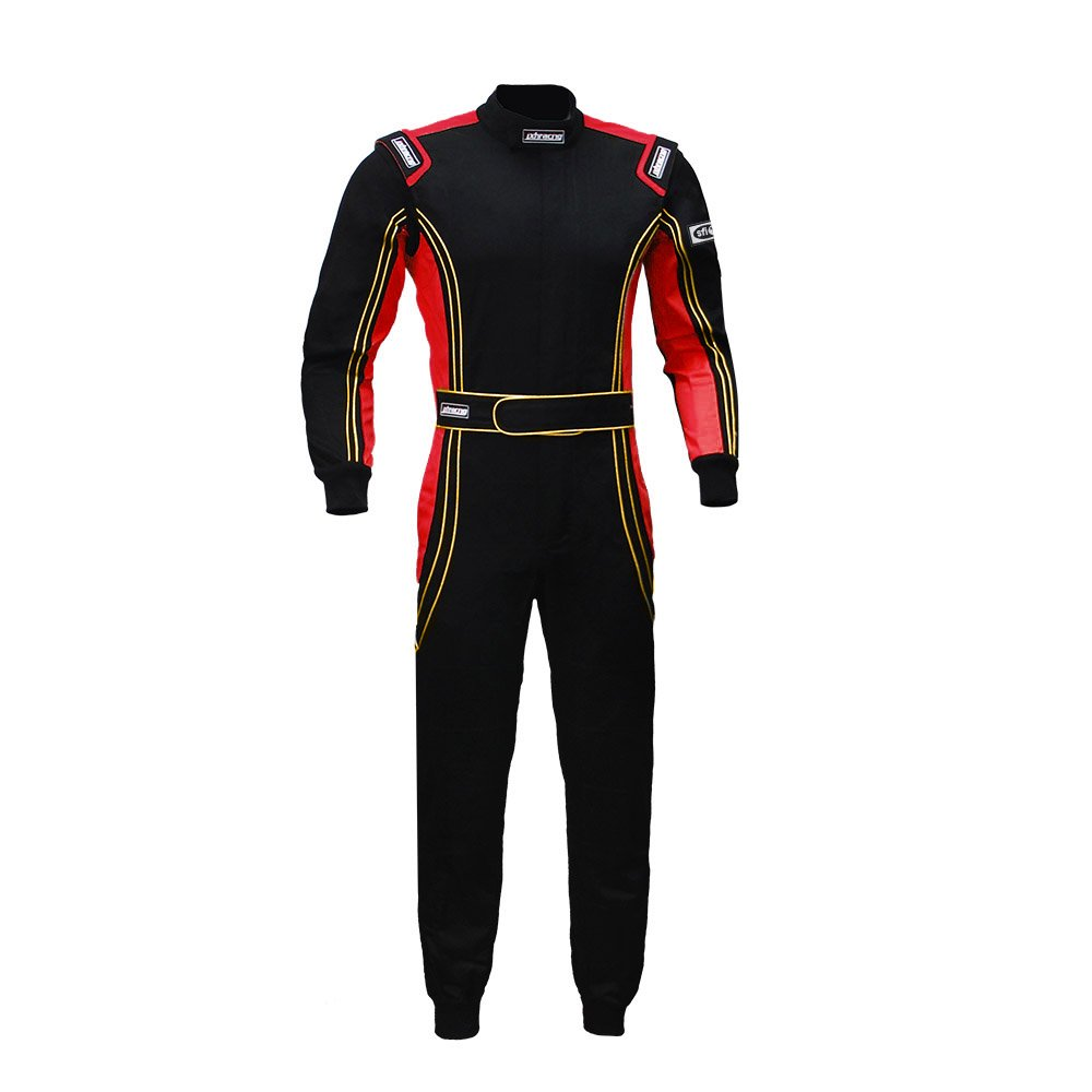 jxhracing RB-CR014 One Piece Auto Go Karts Racing Suit Red Small