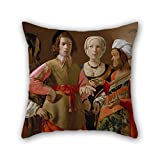 alphadecor 18 x 18 inches / 45 by 45 cm oil painting Georges de La Tour (French, Vic-sur-Seille 1593�653 Lunéville) - The Fortune Teller throw pillow covers ,twice sides ornament and gift to car