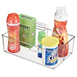 mDesign Laundry Supplies Storage Organizer Tote for Detergent Pods, Bleach, Dryer Sheets - Clear