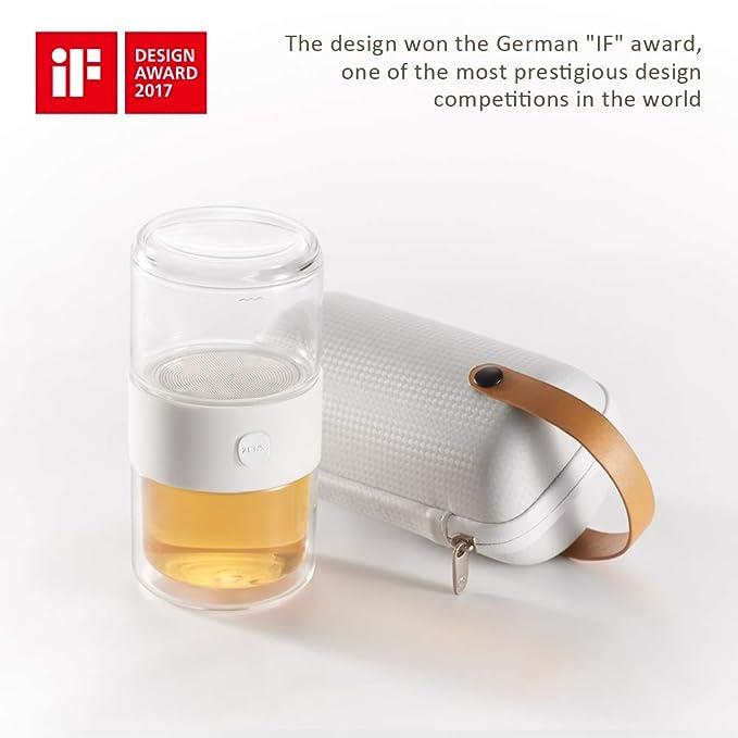 Amazon Com Zens Pi Tea Set All In One Travel Set Glass Teapot