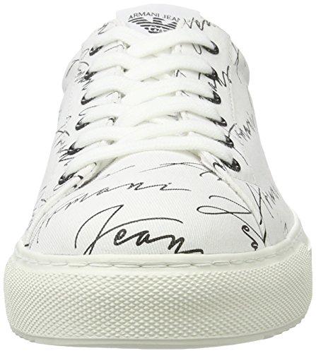 Armani Jeans Herren 9350637p404 Low-Top Weiß (bianco)