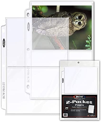 20 BCW PRO 1-POCKET PHOTO PAGES 8 X 10