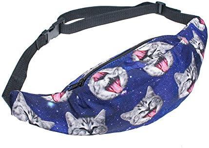 509737e4d612 WHO CARES Cat Fanny Pack Fashion Women's Waist Bag Cute Fanny Packs ...