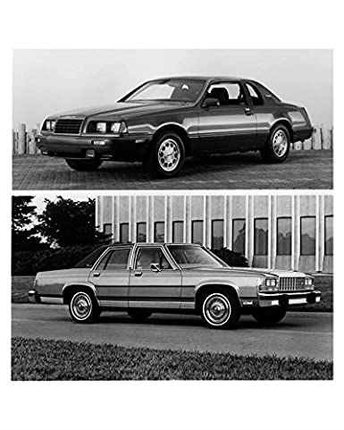 Amazon.com: 1986 Ford Thunderbird Turbo Coupe and LTD Crown Victoria Factory Ph: Entertainment Collectibles