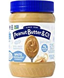 Peanut Butter & Co. White Chocolatey Wonderful Peanut Butter, Non-GMO Project Verified, Gluten Free, Vegan, 16 oz Jars (Pack of 2)