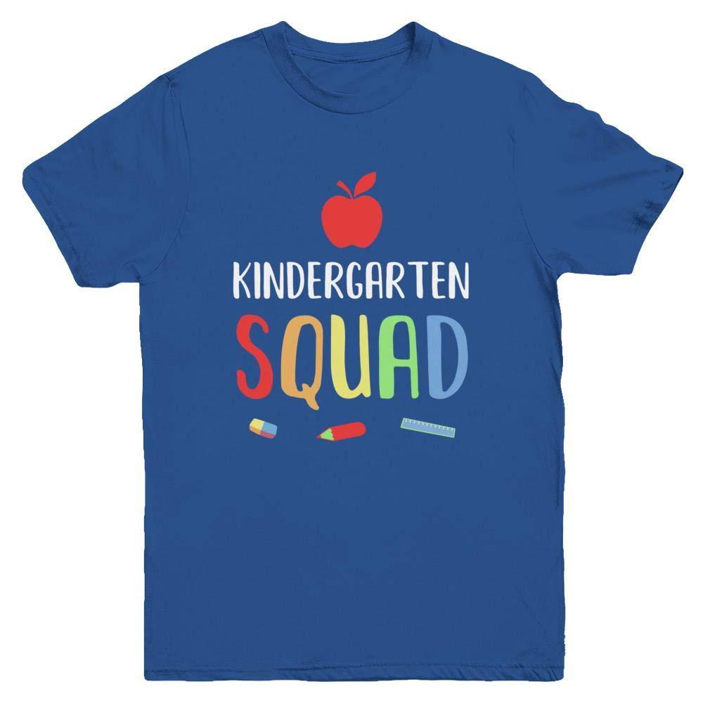 Snow Kindergarten Squad Back To School Tea Gift Short Sleeve Shirts
