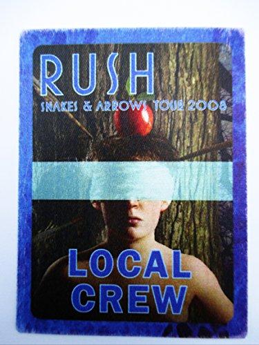 Satin Snake (2008 Rush Satin Backstage Pass Snakes & Arrows Tour Local Crew Blue)