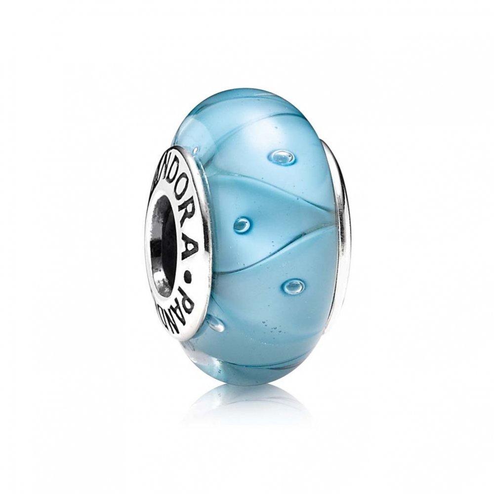 Pandora Turquoise Looking Glass Murano 790924
