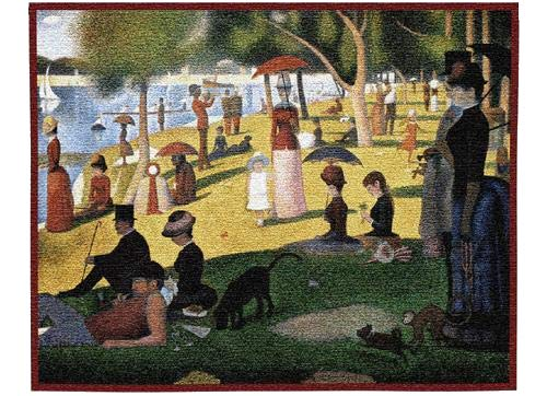 Pure Country Weavers Grande - Pure Country Weavers A Sunday Afternoon on The Island of La Grande Jatte by Georges Seurat | Woven Tapestry Wall Art Hanging | Pointillist Parisian Riverside Masterpiece | 100% Cotton USA Size 33x26