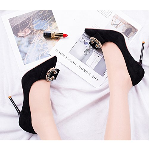 Damen Pumpen Heel Pumps Strass Kleid Aus cy Slip Stilettos High Bankett Wildleder Spitzschuh on HwUwXx1Wqf