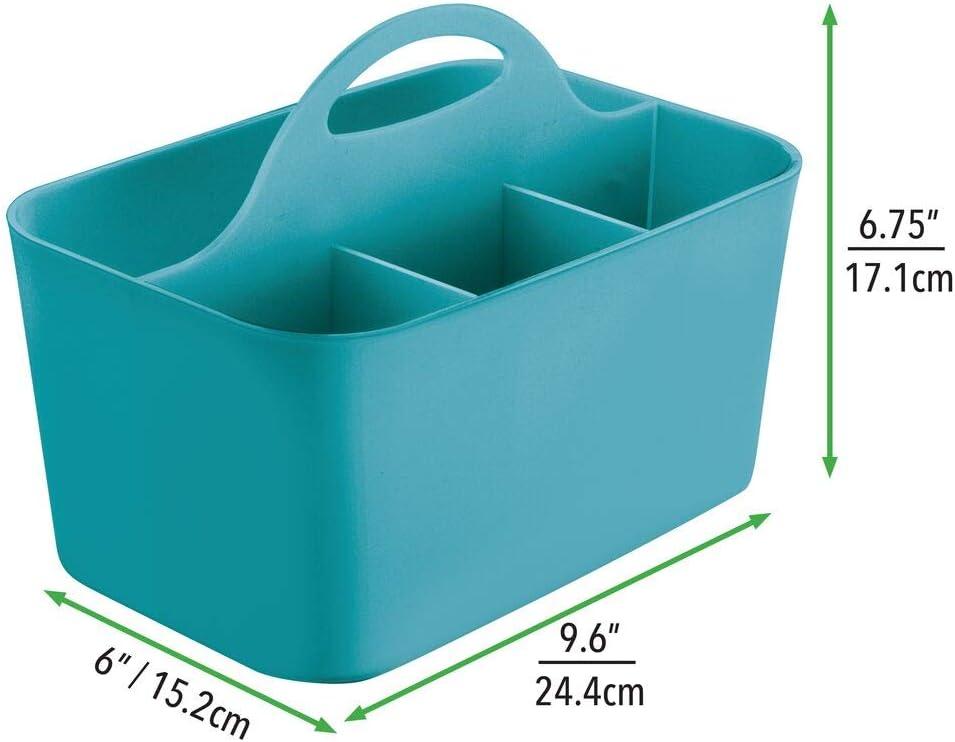 mDesign Badezimmer-//Dusch-Caddy f/ür Shampoo Durchsichtig Seife Conditioner