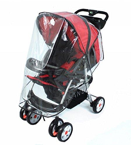 Jipai(TM) Universal Baby Trolley Rain Cover Non-toxic Odourless PU Leather Windproof&Rainproof Pram Yiwu Shi Jipai Dianzishangwu Youxiangongsi