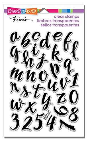 (Stampendous SSC1274 Brush Alphabet Lower Clear Stamp Set)