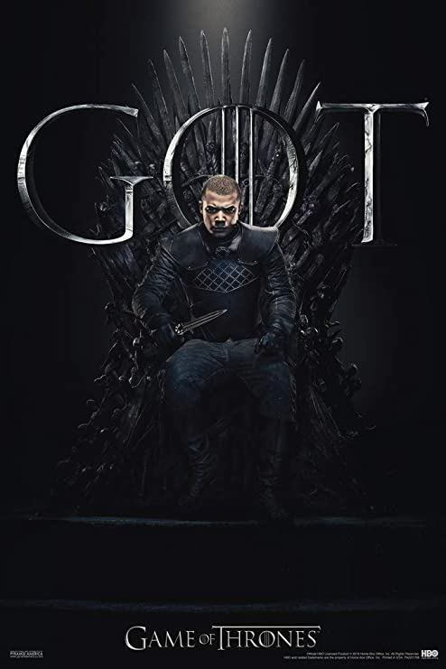 Game of Thrones Grey Worm Iron Throne Season 8 Poster 12x18 Inch Poster 12x18