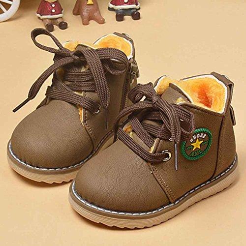 Jamicy® Baby Winter Martin Schuhe Mode Armee Stil Kleinkind Winter warme Schuhe Khaki