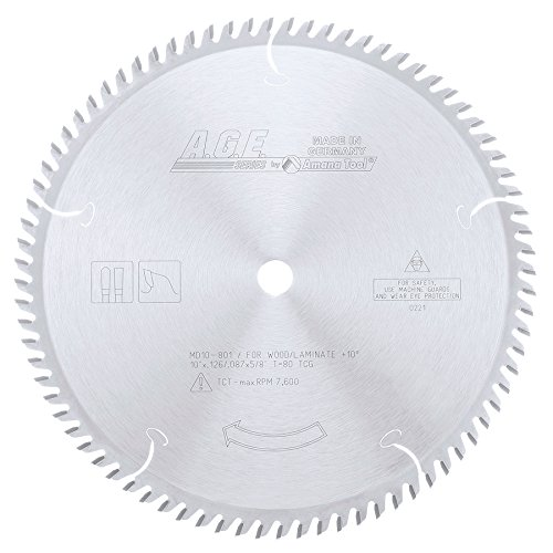 na Tool MD10-801 Plywood/Laminate 10-Inch Diameter by 80-Teeth by 5/8-Inch Bore, Triple Chip Grind Carbide Tipped Saw Blade ()