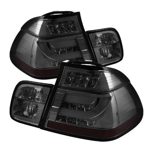 Spyder Auto ALT-YD-BE4602-4D-LBLED-SM BMW E46 3-Series 4-Door Smoke Light Bar Style LED Tail Light