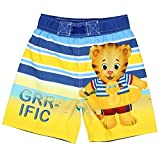 Daniel Tiger Boys Swim Trunks Swimwear (4T, GRR-ific Blue/Yellow)