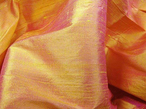 Thai Silk Dupioni - Orange Gold