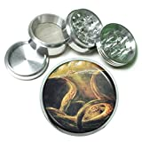 Gigantic Octopus Kraken D1 Herb & Spice Grinder 63mm 4 Piece Aluminum Silver Metal Scary Sea Monster Attacking Squid