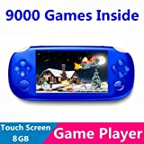 SUBOR T880 8GB 4.3 Inch Touch Screen Utral-thin PSP Style Game Console Player MP5/MP4/MP3 With Camera/TV-OUT/1080P Output For GB/GBA/Arcade games/PS1/FLASH games(9000 Games Build in)-BLUE