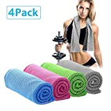 Cooling Towel for Instant Relief - Cool Bowling Fitness Yoga Towels 40''x12'' Use as Cooling Neck Headband Bandana Scarf,Stay Cool for Travel Camping Golf Football &Outdoor Sports