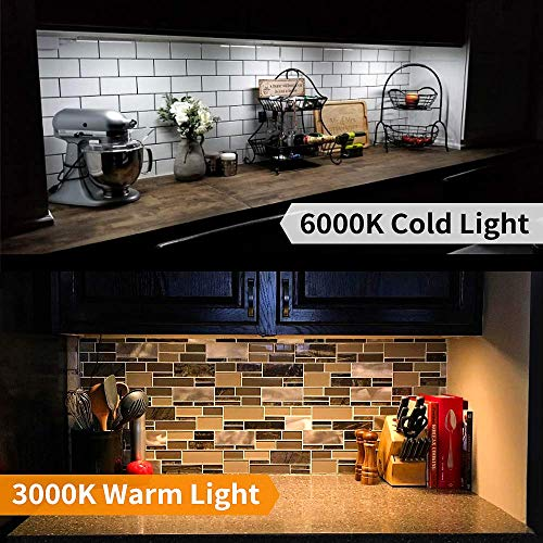 MYPLUS LED Under Cabinet Lighting, 3 pcs 12 inches Extremely Soft Kitchen Lights 10W, 630lm With 10 Levels Dimmable LED Under Counter Lights, for Kitchen Cabinet,Counter,Workbench etc - 3000K by MYPLUS (Image #1)