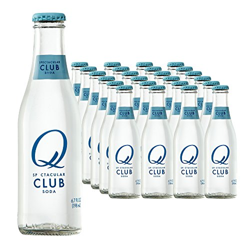 Club Soda Drink (Q Drinks, Q Club, Spectacular Club Soda, Premium Mixer, 6.7 Ounce Bottle (Pack of 24))