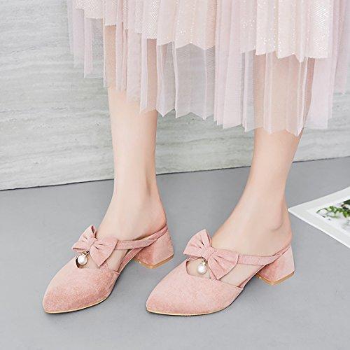 Donna Caviglia UH rosa sulla Aperte qOx00tBz