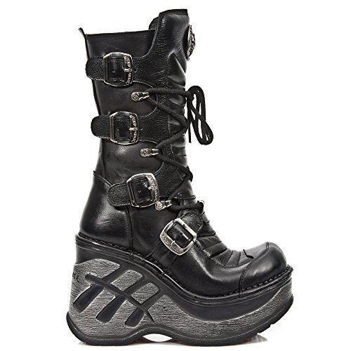 New Rock M Sp9873 S1, Stivali Donna nero