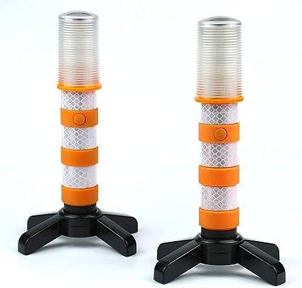 Lamf Notfall Straßenblinker Set Mit Abnehmbarem Ständer Gefahrenlicht Set Sicherheits Stroboskoplicht Für Straßenverkehr Warnung Verkehr Gelb Küche Haushalt