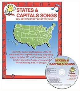 states and capitals songs larry troxel 9781883028145 amazoncom books