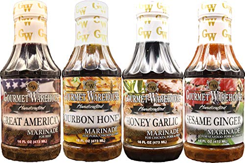 Grilling Sampler - Gourmet Warehouse Classic Marinade Collection, Sampler Pack, Gift Set, Gourmet, Grilling