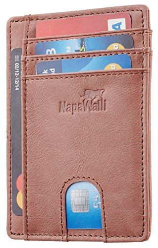 - Toughergun RFID Blocking Minimalist Genuine Leather Slim Front Pocket Wallet U (Mississippi Brown)