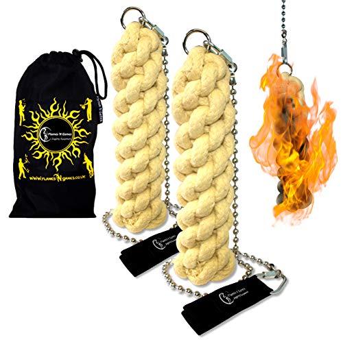Flames N Games ORION X - Pro Fire Poi set + Flames 'N Games Travel Bag by Flames 'N Games (Image #1)