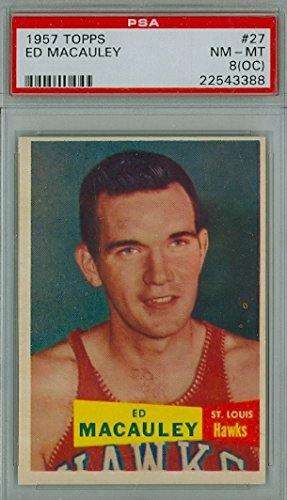 1957 Topps Basketball 27 Ed McCauley PSA 8 Off-Center