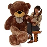 Giant Teddy brand 6 Foot Life Size Mocha Brown Color Big Plush Teddy Bear Sunny Cuddles (Original)