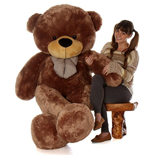 Giant Teddy Brand 6 Foot Life Size Mocha Brown Color Big Plush Teddy Bear Sunny Cuddles (Original)]()